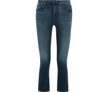 The Insider Crop High-rise Flared Jeans Dark Denim  7