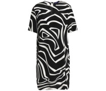 Printed silk crepe de chine mini dress