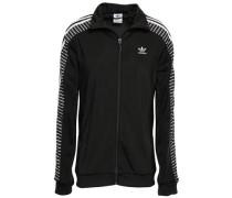Striped Tech-jersey Track Jacket Black