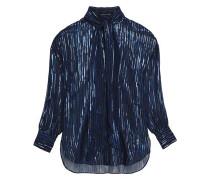 Metallic fil coupé silk-blend chiffon blouse