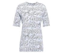 Printed Stretch-cotton Jersey T-shirt Light Gray