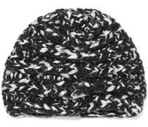 Dominque Marled Metallic Wool-blend Beanie Black Size ONESIZE