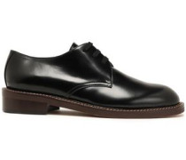 Glossed-leather Brogues Black