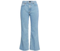 Justine high-rise kick-flare jeans