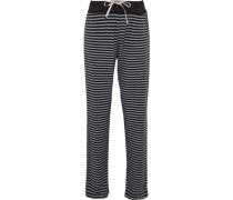 Striped stretch modal-jersey pajama pants