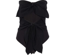Ellwood strapless cutout knotted crepe bodysuit