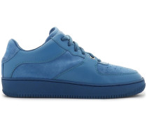Woman Suede And Leather Sneakers Azure