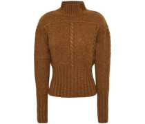 Maude Cable-knit Cashmere Sweater Brown