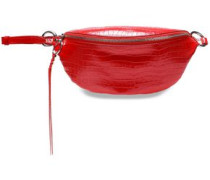 Croc-effect Leather Belt Bag Tomato Red Size --