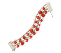 Gold-tone Beaded Bracelet Red Size --