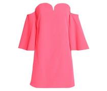 Off-the-shoulder cady mini dress