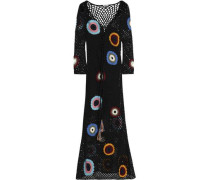 Cotton crochet-knit maxi dress