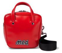 Ivy Small Logo-appliquéd Glossed-leather Shoulder Bag Red Size --