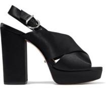 Millie satin platform sandals