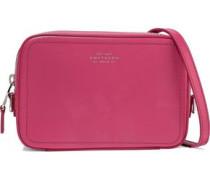Panama Mini Leather Shoulder Bag Fuchsia Size --
