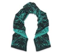 Wool-blend jacquard scarf