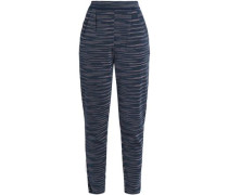 Stretch-knit tapered pants