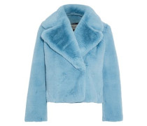Faux Fur Coat Sky Blue