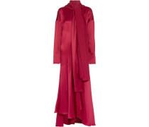 Alida asymmetric silk-satin maxi dress