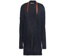 Open-knit Silk Sweater Navy