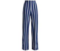 Striped Jersey Wide-leg Pants Bright Blue