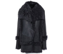 Shearling Coat Midnight Blue