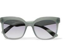 Square-frame Acetate Sunglasses Grey Green Size --