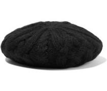 Jaime Cable-knit Alpaca Beret Black Size ONESIZE