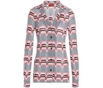 Jacquard-knit shirt