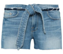 Lace-up Denim Shorts Light Denim  5