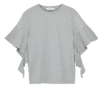 Ruffled cotton-jersey T-shirt