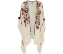 Manali embellished cotton-gauze coverup