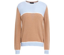 Color-block Wool And Cashmere-blend Sweater Camel