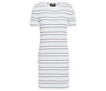 Woman Mary Striped Stretch-knit Mini Dress Sky Blue