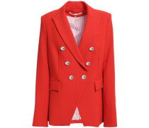Woman Miller Dickey Double-breasted Crepe Blazer Tomato Red
