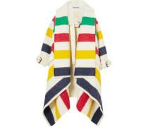 Striped wool felt coat