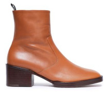 Leather Ankle Boots Tan