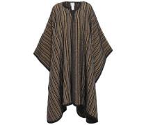 Striped Bouclé-tweed Cape Midnight Blue Size ONESIZE