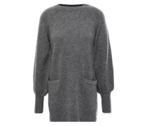 Mélange Wool And Cashmere-blend Sweater Dark Gray