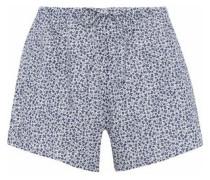Printed cotton pajama shorts