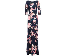 Woman Floral-print Ponte Gown Navy
