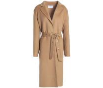 Double-breasted wool-felt coat
