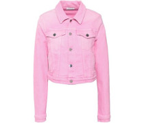 Cropped Denim Jacket Pink
