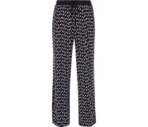 Printed stretch modal-jersey pajama pants