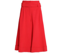 Belted crepe culottes