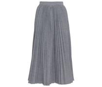 Fluted Pleated Woven Midi Skirt Gray