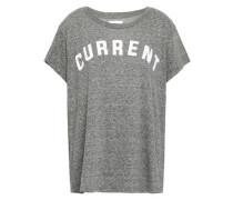 Flocked Mélange Jersey T-shirt Gray
