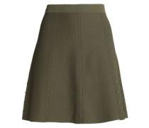Studded stretch-ponte mini skirt
