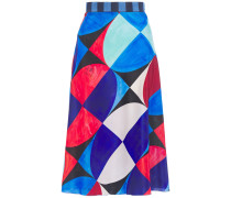 Printed Crepe De Chine Skirt