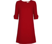 Frame button-embellished wool-crepe mini dress